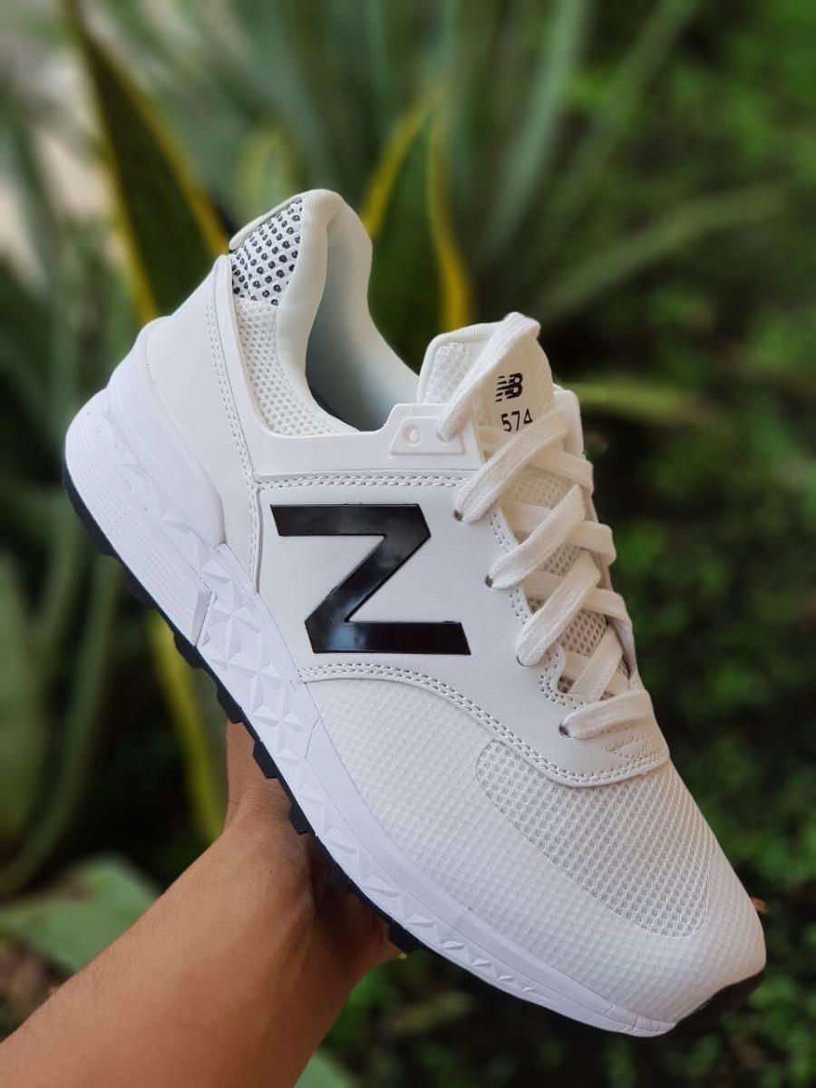Tenis Zapatillas New Balance 574 Sport Blanca Negra Hombre