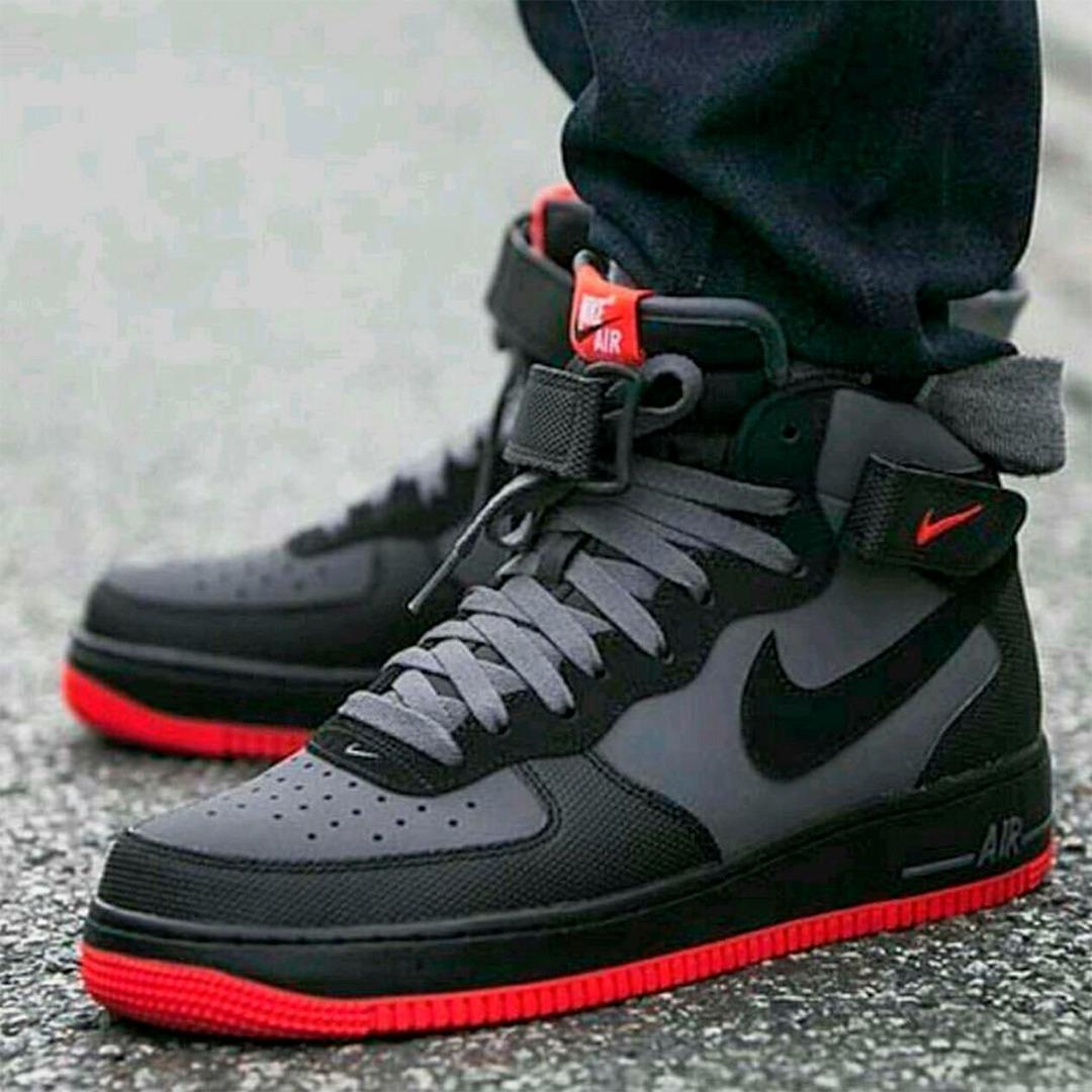 Bota Nike Air Force GreyObsequio Red Zapatillas Tenis nvmO0wN8