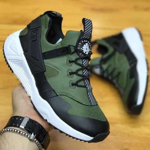 zapatillas nike huarache hombre verdes