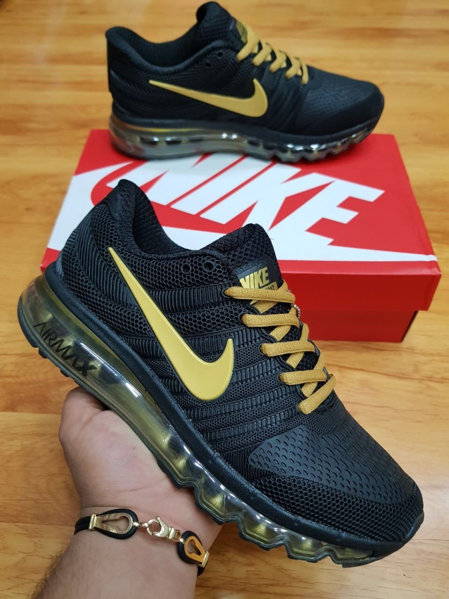 tenis zapatillas nike air max 2017 negro dorado hombre env g. Cargando zoom. 557a3404a8790