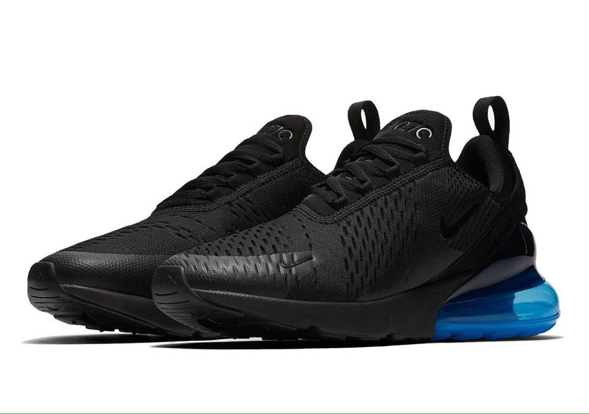 ... uk tenis zapatillas nike air max 270 negra azul hombre env gr. cargando  zoom. ce744649d02da