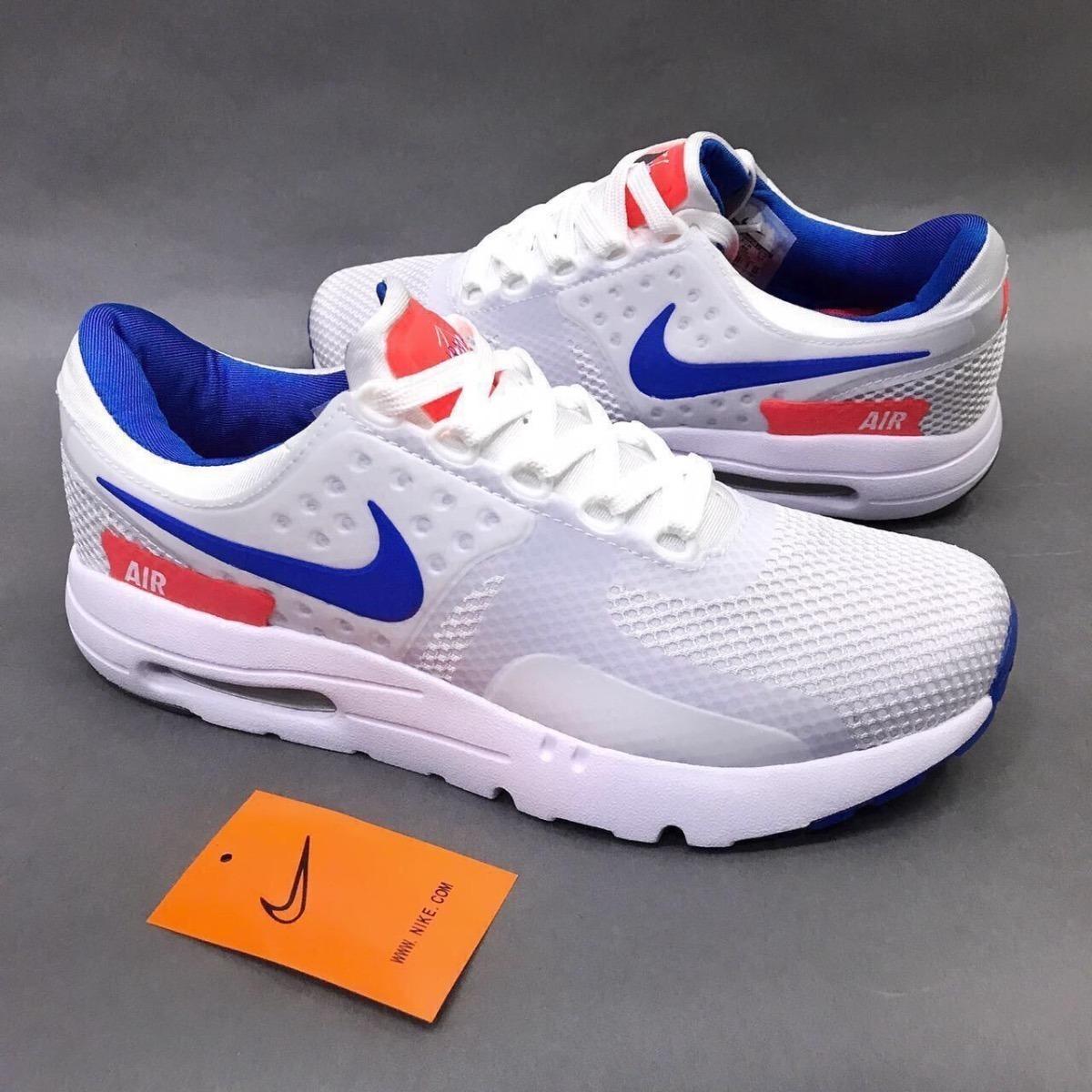 6a4b674535486 Tenis Zapatillas Nike Air Max Zero Blanca Azul Hombre -   144.900 en ...
