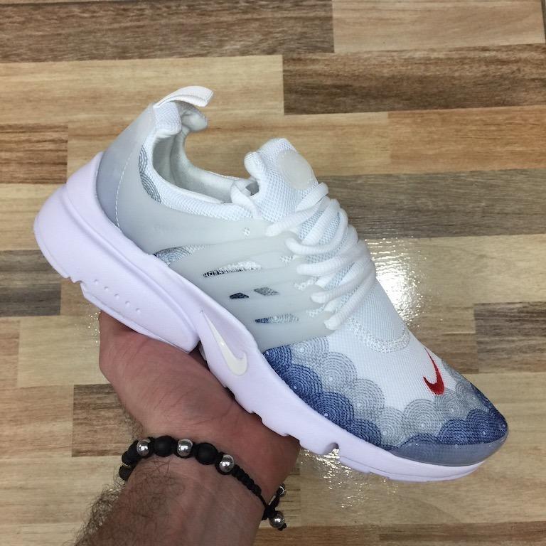 Tenis Zapatillas Nike Air Presto Custom Blanca Hombre Env Gr ... 9e318e980469f