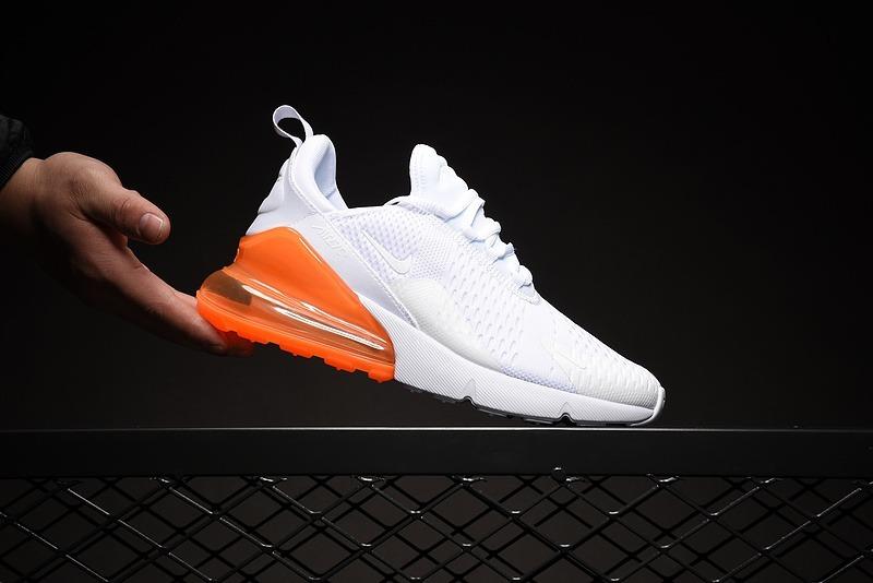 550fe7a538f75 tenis zapatillas nike airmax 270 blanca naranja hombre 2019. Cargando zoom.