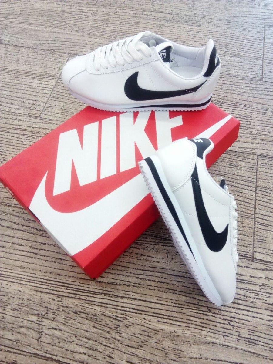 Tenis Zapatillas Nike Cortez Ultra Blanca Negra Hombre Env