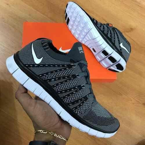 Tenis Negro Nike 5 0 Gris Flyknit 134 Hombre Zapatillas Free 900 rfqw0Ur