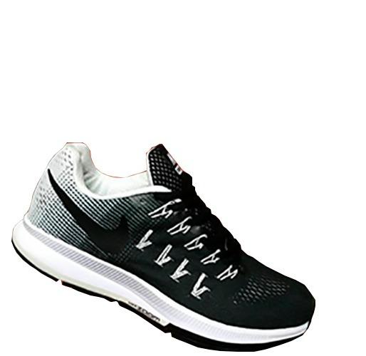 6bd63ce9ee11c Tenis Zapatillas Nike Zoom Pegasus 33 Negro Blanco Hombre ...