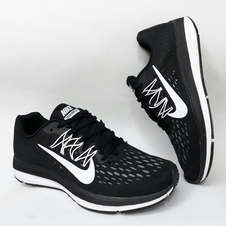 huge discount 4e162 87374 tenis zapatillas nike zoom winflo 5 negra blanca hombre env