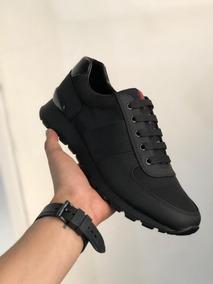 muy bonito buena calidad diseño moderno Tenis Zapatillas Prada Deportivos Casual Negros Blanco