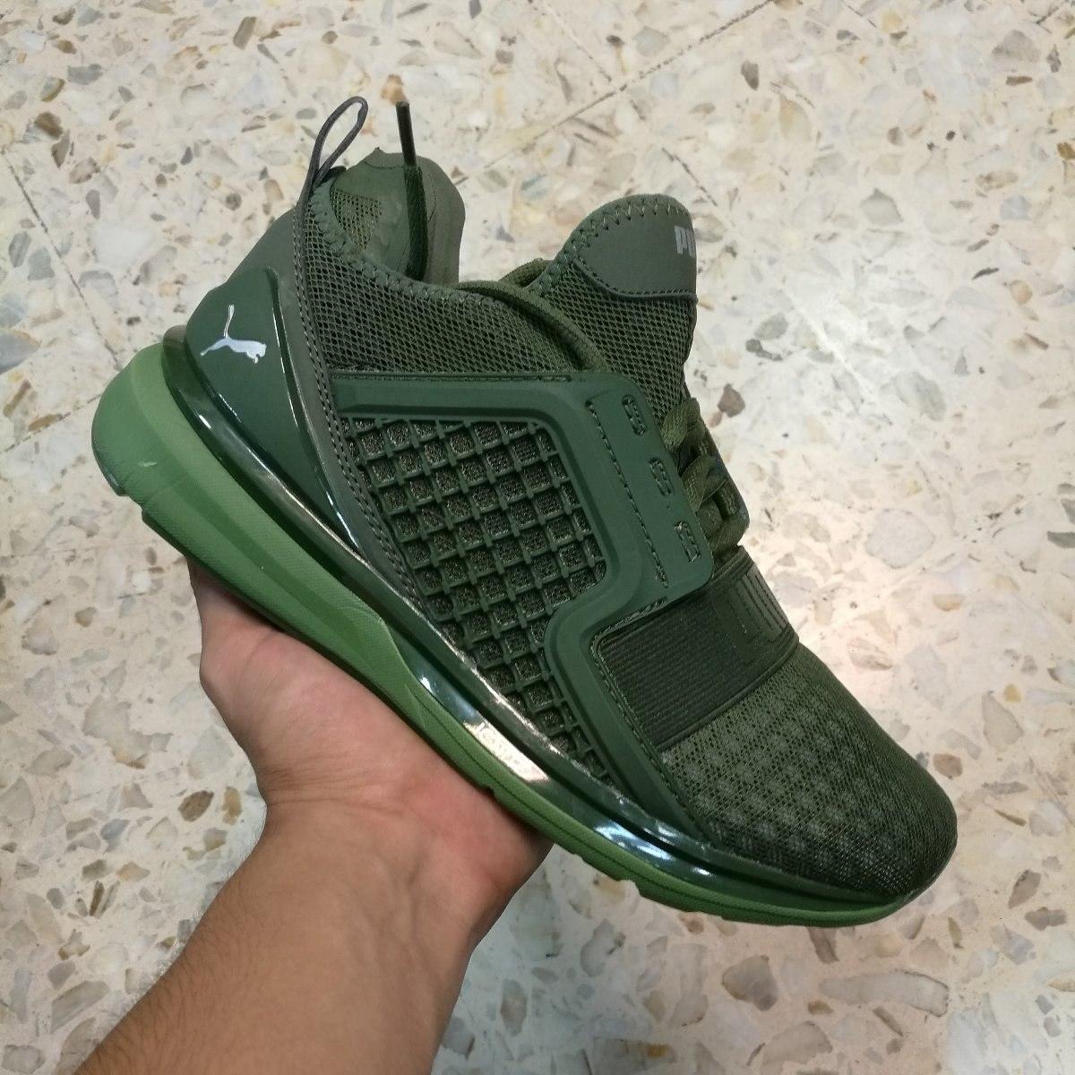 zapatillas puma verdes