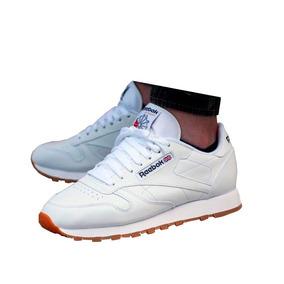 zapatos reebok clasicos hombre blanco 90