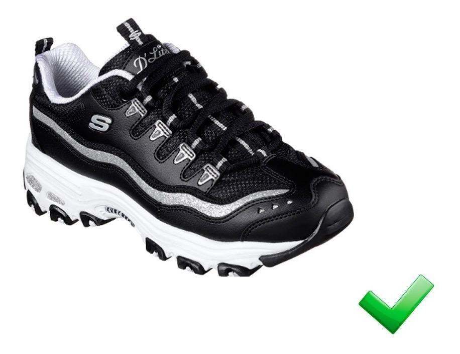Tenis Zapatillas Skechers Mujer Dlites Negros 30% Off