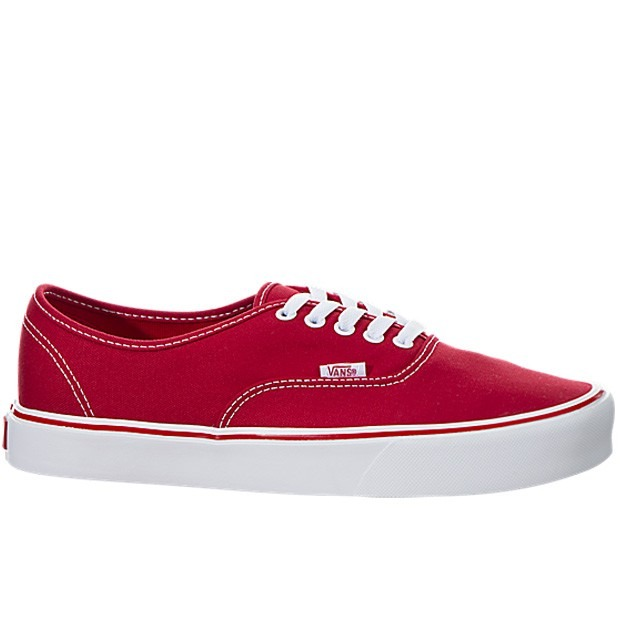 zapatillas vans hombres rojas