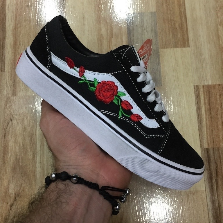 zapatillas vans flores mujer