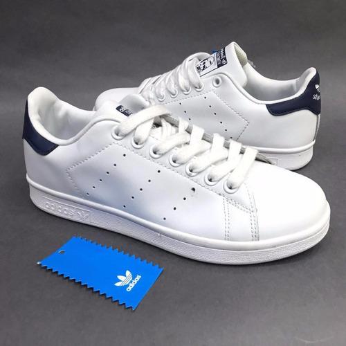 tenis zapatillas zapatos adidas stan smith black en caja