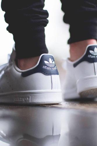 tenis zapatillas zapatos adidas stan smith blue en caja