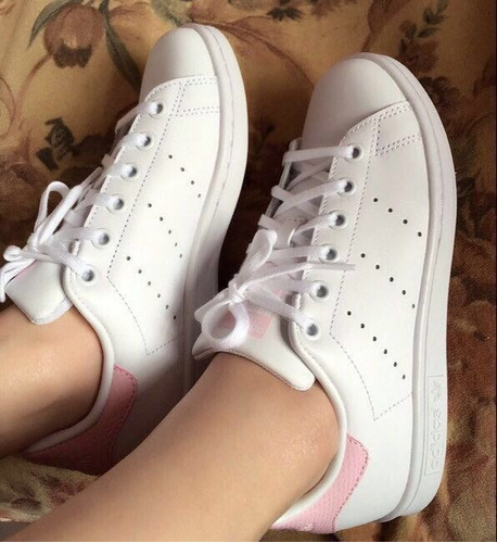 tenis zapatillas zapatos adidas stan smith pink en caja