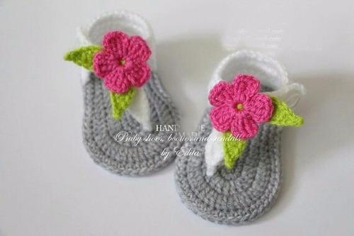 tenis, zapatitos, sandalias, huaraches tejidos de 0-12 meses