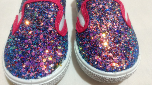 tenis zapato bebé niña brillante moda bonitos morado rosa