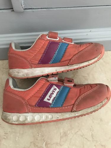tenis zapato levis niña originales limpia de closet