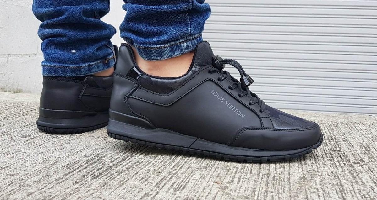 1b828575f2 Tenis Zapatos Louis Vuitton Lv Hombre Negros Valentino Hugo -   189.990 en Mercado  Libre
