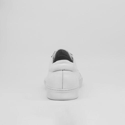 tenis zapatos sneakers 100% cuero informal blanco
