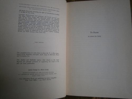 tennessee williams the rose tatoo primera edicion eu 1951