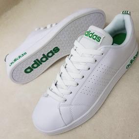 adidas neo blancas y verdes