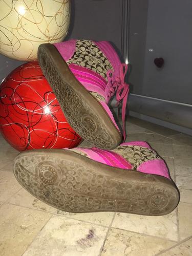 tennis bota coach casuales plataforma rosa gamusa logo 25