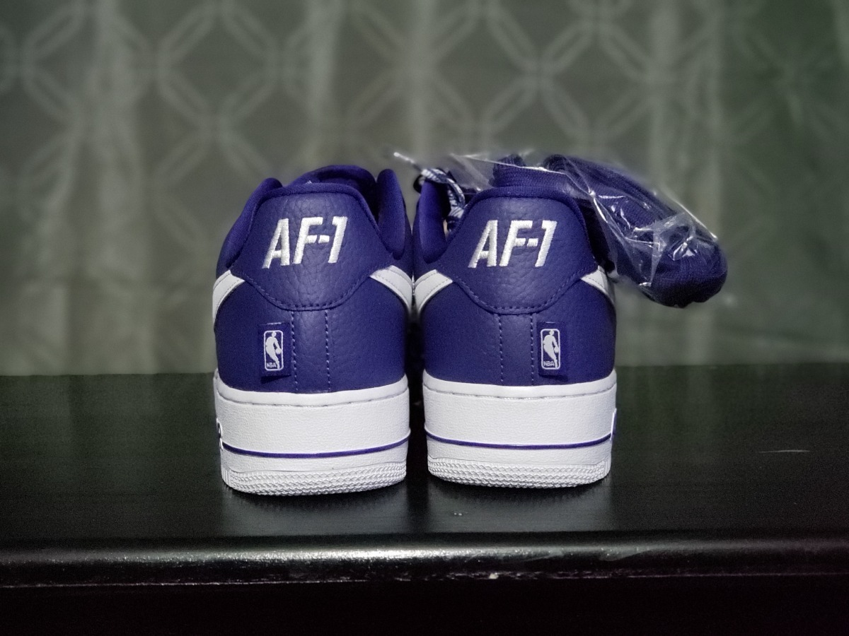 Tennis Nike Air Force1 Af1 Nba, Morado, Talla #7