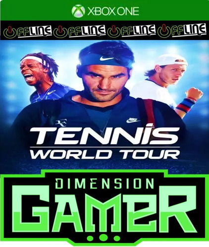 tennis world tour - xbox one - no codigo off line