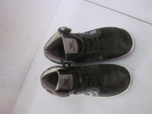 tennis zapatos supra para niño talla 20.5