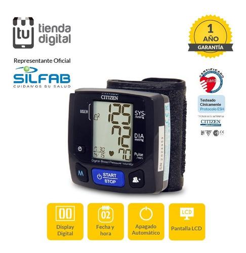 tensiómetro automático de muñeca citizen/silfab ch-618