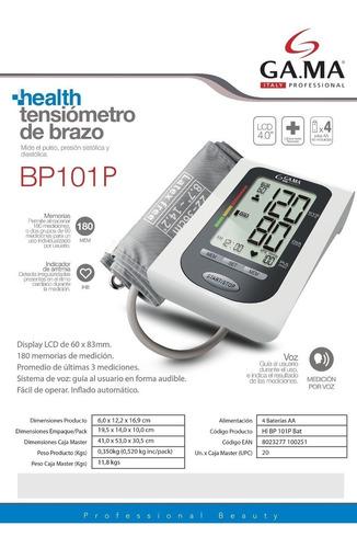 tensiometro de brazo gama bp 101p automatico