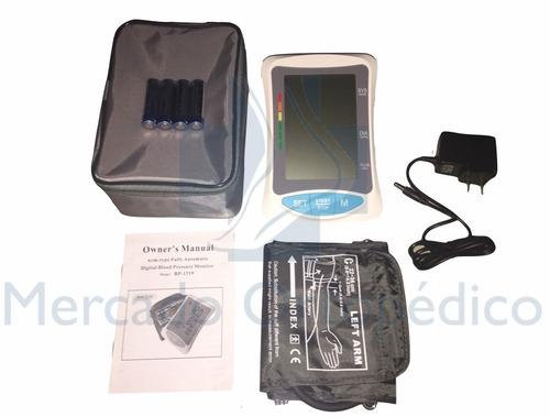 tensiometro digital brazo con adaptador corriente y garantía