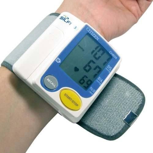 tensiometro digital de muñeca (ch605) citizen + termómetro