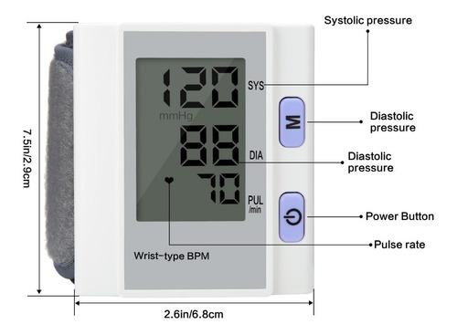 tensiometro digital de muñeca + pilas + estuche
