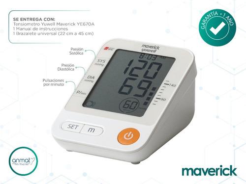 tensiómetro digital maverick de brazo ye670a