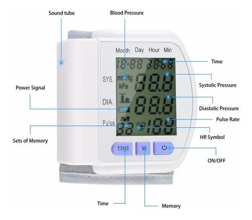 tensiometro  digital medidor de presión arterial de muñeca