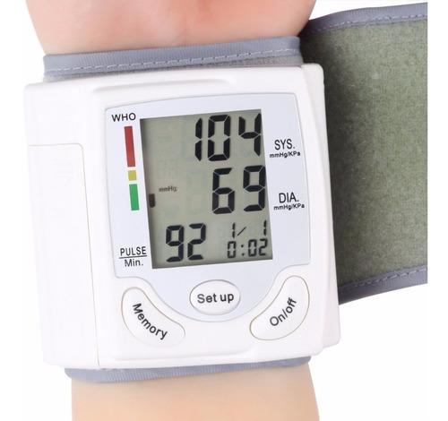 tensiometro digital muñeca presion y arritmia con estuche