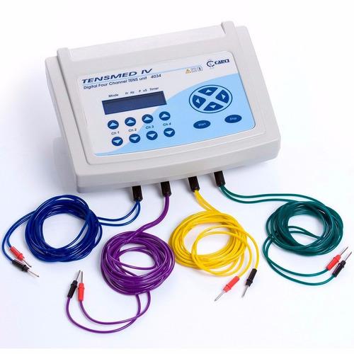 tensmed iv aparelho de tens com 4 canais carci fisioterapia