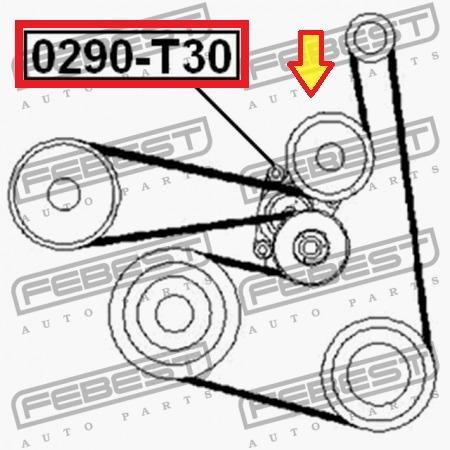 tensor correa unica nissan xtrail t30 altima sentra b15 2.5