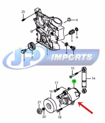 tensor correia actyon suv 2.3 gasolina 11120-00770 jp001275