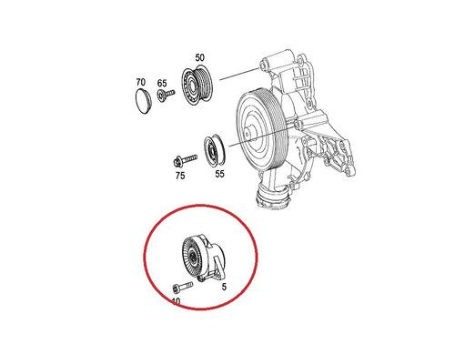 tensor correia do motor mercedes cls500 2006-2010 original
