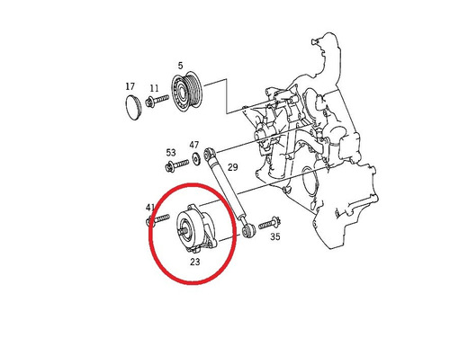 tensor correia motor mercedes e320 1997-2002 original