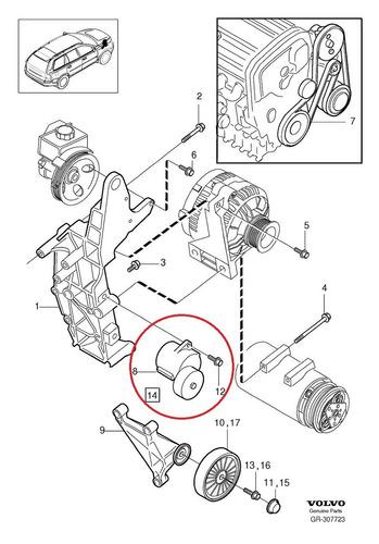 tensor correia motor volvo v70 2.5 2004-2007 original