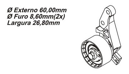 tensor da correia dentada ford courier 1.4 16v zetec 98 a 99