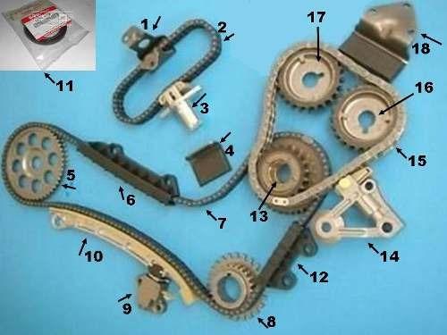 tensor no. 14  de cadena de tiempo gran vitara 6 cilindros