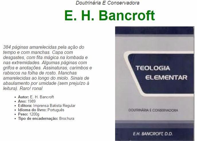 teologia elementar bancroft