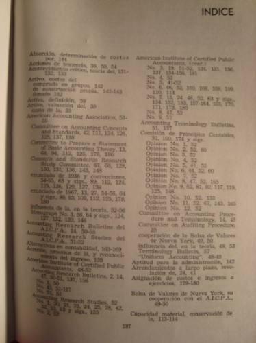 teoria basica de la contabilidad financiera, 1971.